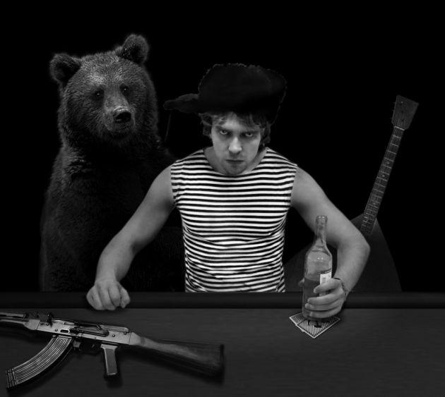 пай картинка медведь в шапке ушанке с автоматом приехали заблаговременно