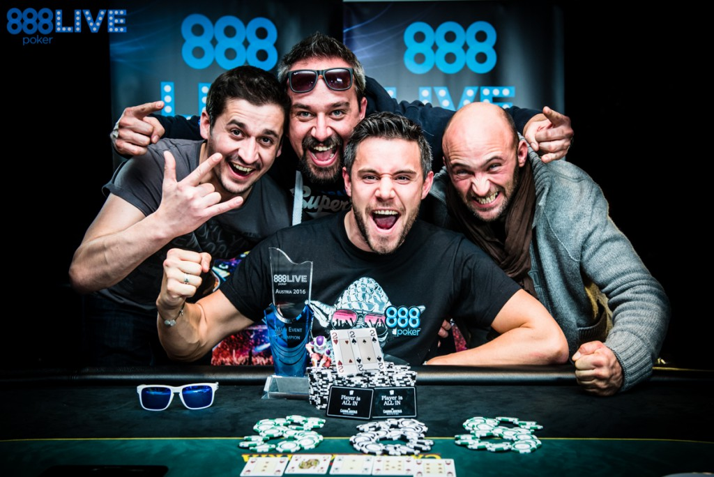 Eliot Hirn 888 Snow Limit Austria Main Event Champion Group Shot