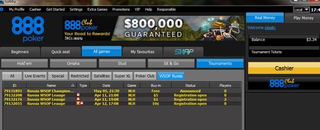 888poker запускает Russia WSOP League